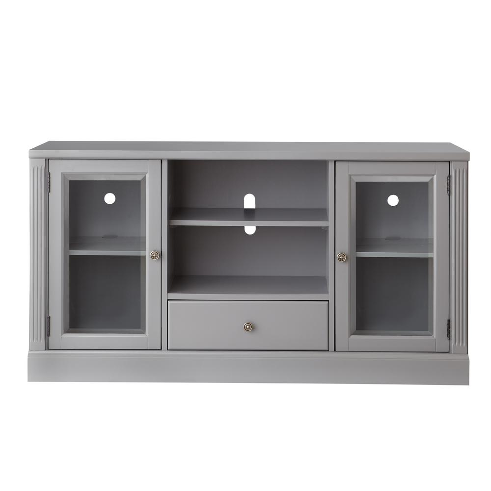 Home Decorators Grey Glass Media Center Gray