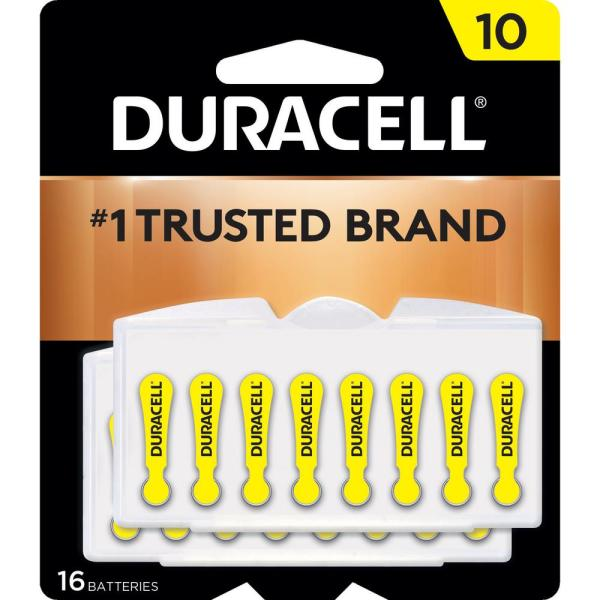 Size 10 Zinc Hearing Aid Battery (16-Pack)