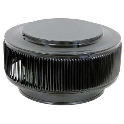 Aura PVC Vent Cap 10 in. Dia Exhaust Vent with Adapter to Fit Over 10 in. PVC Pipe in Black Powder Coat