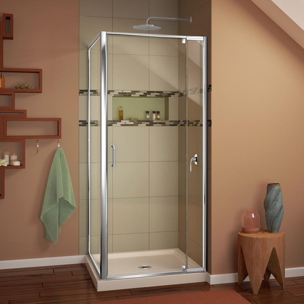 DreamLine Flex 32 in. D x 32 in. W x 74-3/4 in. H Framed Corner ...