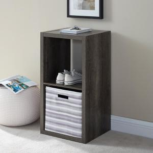 Dillon Grey 2-Cubby Storage Cabinet