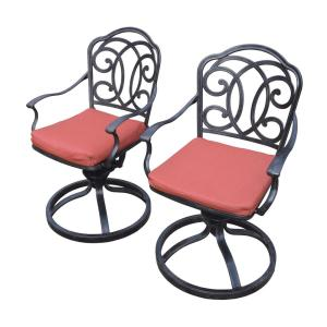 Berkley 2-Piece Aluminum Outdoor Bistro Set with Red Cushions by