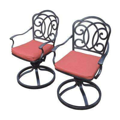 Berkley 2-Piece Aluminum Outdoor Bistro Set with Red Cushions