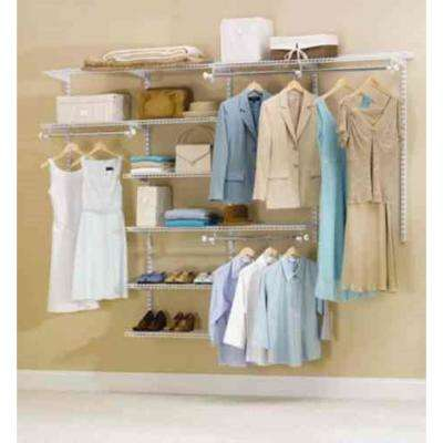 36 in. D x 72 in. W x 2 in. H Configurations Custom Metal Closet System 3 - 6 ft. White Deluxe Kit