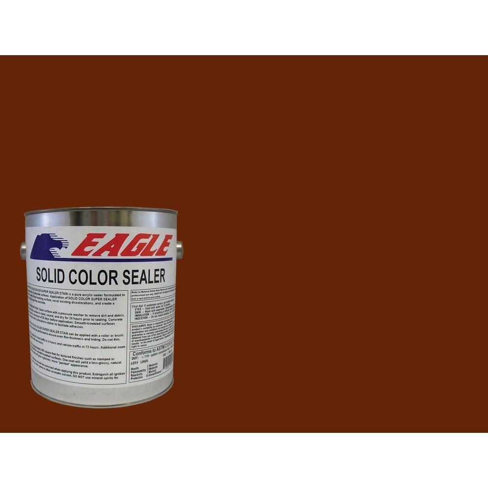 1 gal. Tile Red Solid Color Solvent Based Concrete Sealer