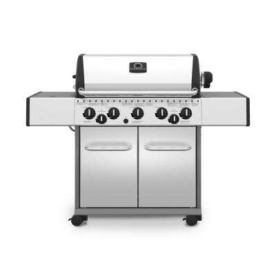 Patriot 5900 Pro 5-Burner Propane Gas Grill in Stainless Steel with Side and Rotisserie Burner