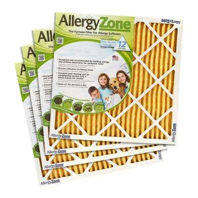 AllergyZone 1 in. Depth FPR 10 Air Filter for Allergy Sufferers (4-Pack)