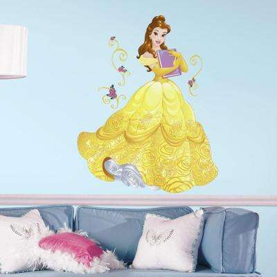 2.5 in. x 27 in. Disney Sparkling Belle 13-Piece Peel and Stick Giant Wall Decal