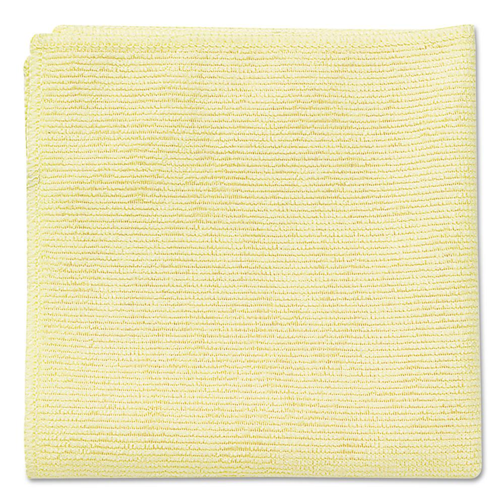 Rubbermaid Commercial Products 16 in. x 16 in. Light Commercial Yellow Microfiber Cloth (24-Count)