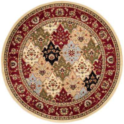 Lyndhurst Multi/Red 8 ft. x 8 ft. Round Area Rug