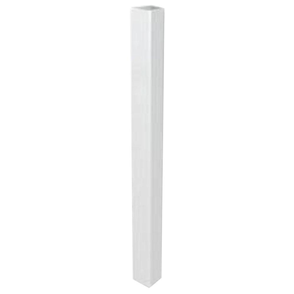 white fence post. White Traditional Post Jacket-73003561 - The Home Depot Fence R