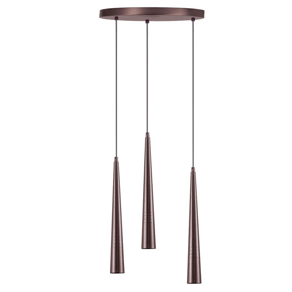 Catherine 3-Light Oil Brushed Bronze Multi Light Pendant