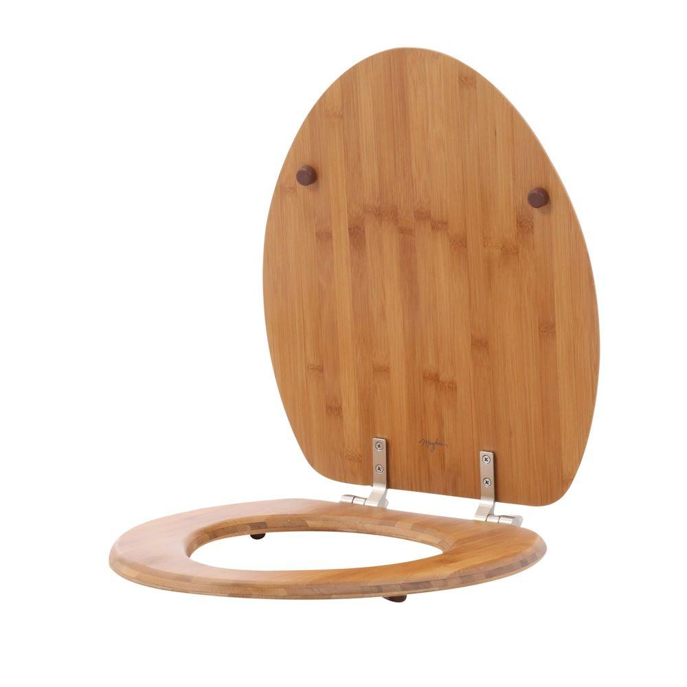 Remarkable Bemis Natural Reflections Elongated Closed Front Toilet Seat In Bamboo Gmtry Best Dining Table And Chair Ideas Images Gmtryco