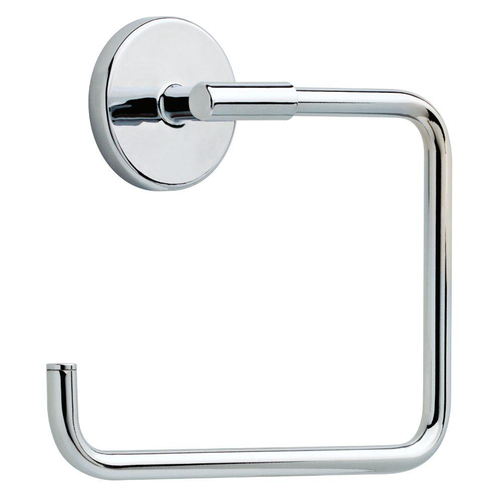 Delta Lyndall Towel Ring In Chrome Ldl46 Pc The Home Depot