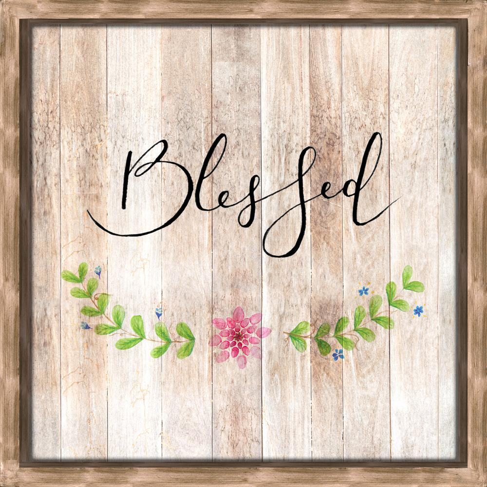 Artissimo Designs BlessedWooden Recessed Box Decorative Sign, Brown; Pink; Green' Black was $69.99 now $46.66 (33.0% off)
