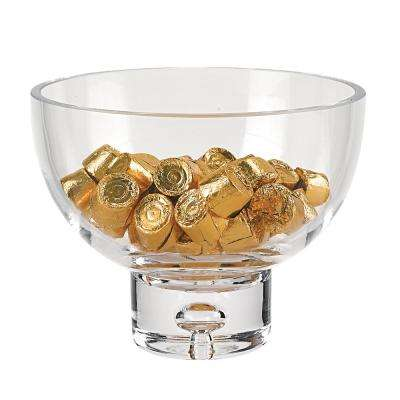 Galaxy 6.25 in. D x 5 in. H Clear Pedestal Candy or Nut Bowl