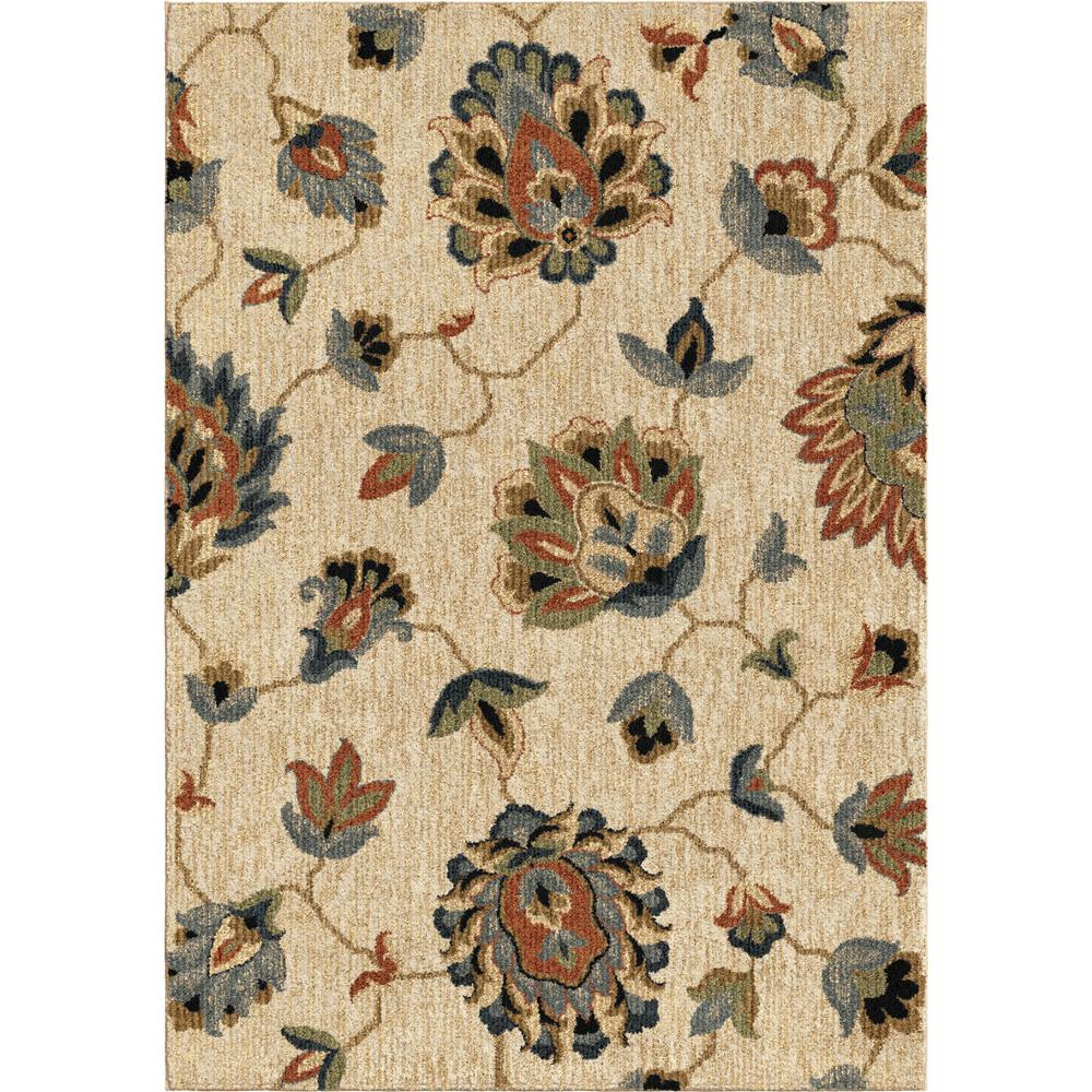 Orian Rugs Floral Beaches Plush Beige 7 Ft. 10 In. X 10 Ft