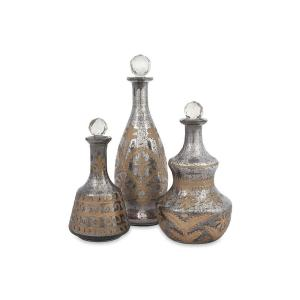 Click here to buy Home Decorators Collection Acadia Mercury Glass Decanters (Set of 3) by Home Decorators Collection.
