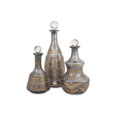 Acadia Mercury Glass Decanters (Set of 3)
