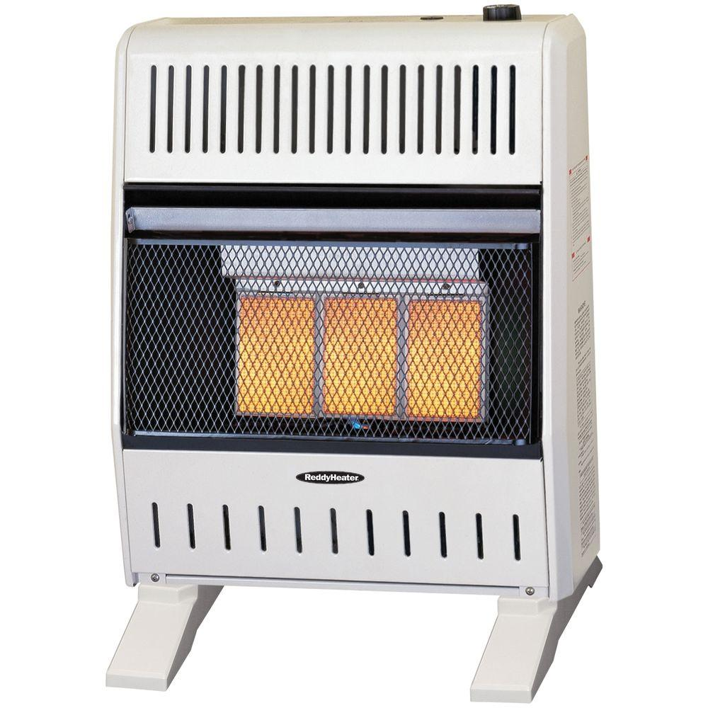Reddy Heater 18,000 - 20,000 BTU Infrared Dual-Fuel Wall Heater with Blower