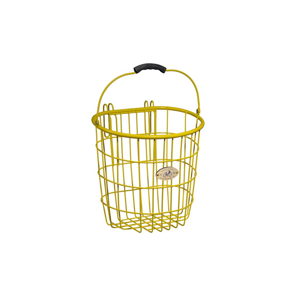 Nantucket Bicycle Basket Surfside Rear Wire Pannier Basket In Yellow