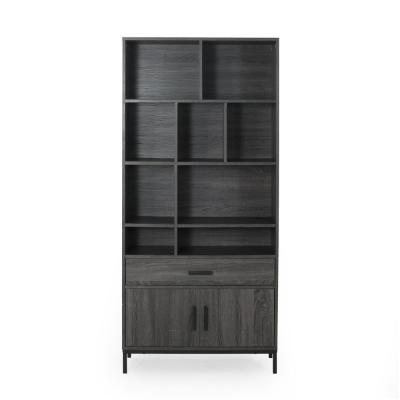 Gallatin Dark Grey and Black Book Case