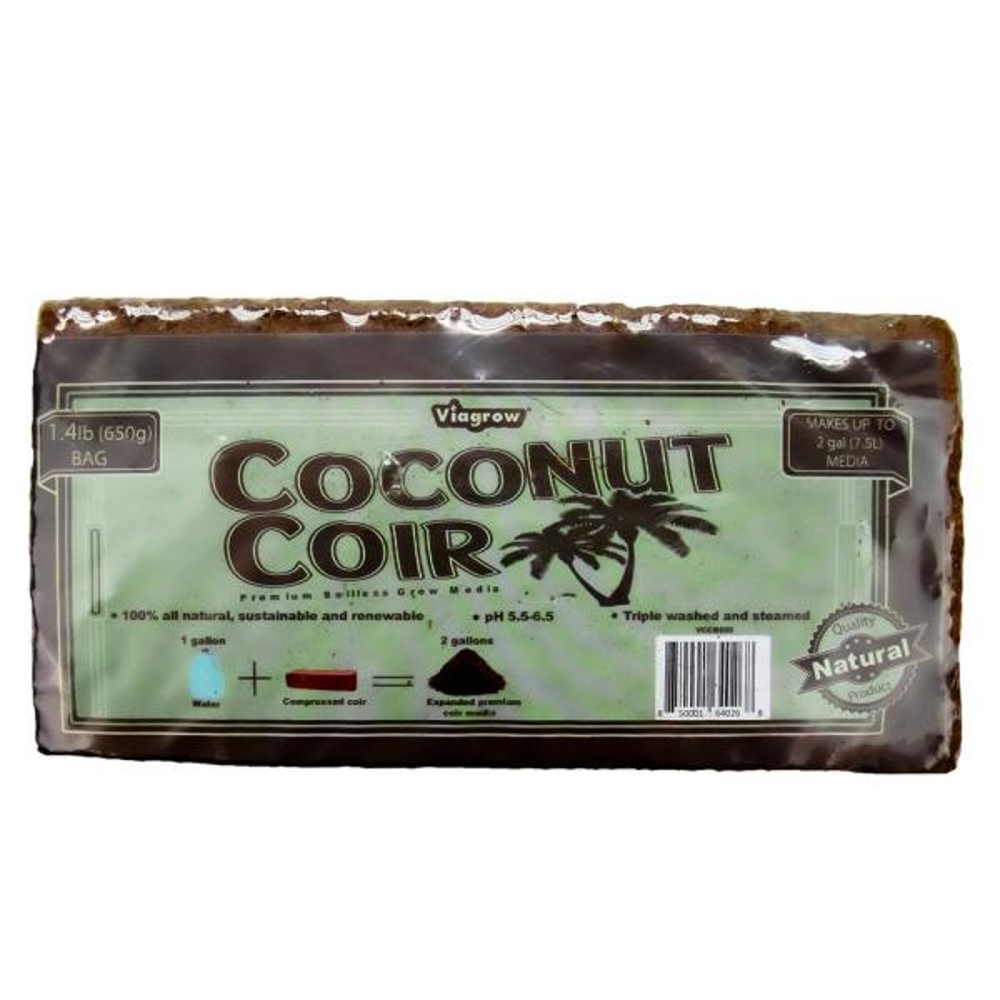 1.4 lbs./650 g Premium Soilless Grow Media Coconut Coir Brick