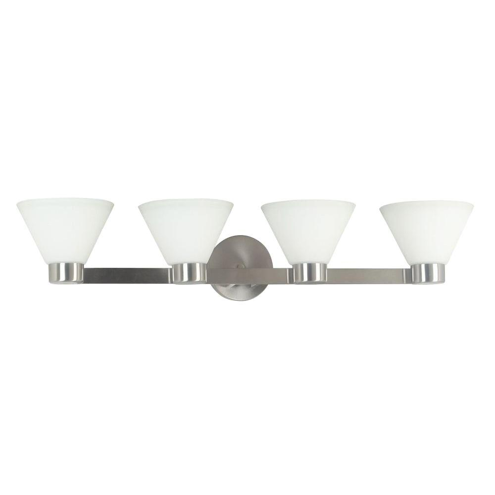 Kenroy Home Maxwell 4-Light Brushed Steel Vanity Light