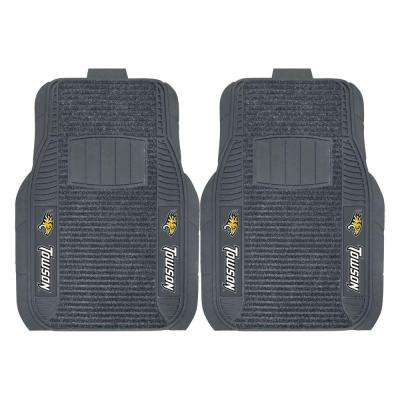 NCAA Towson University Black Heavy Duty 2-Piece 20 in. x 27 in. Vinyl Car Mat