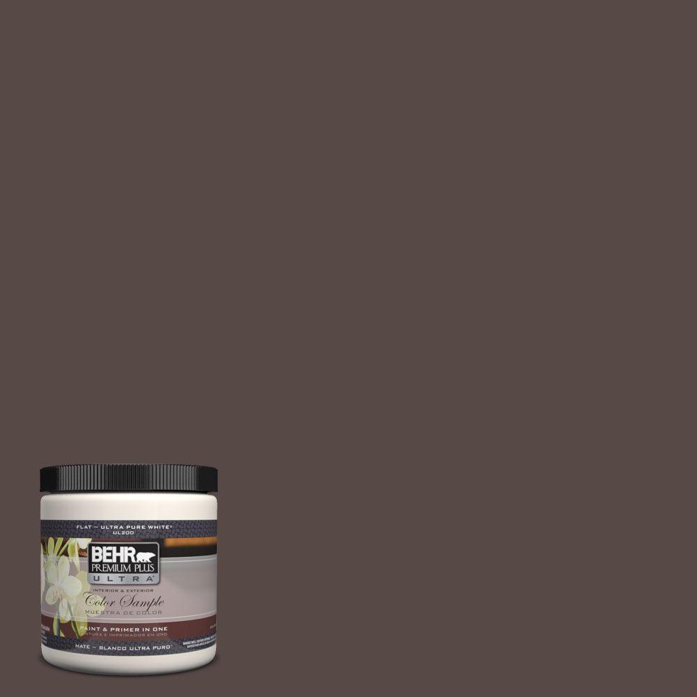 BEHR Premium Plus Ultra 8 oz. #UL140-2 Dark Truffle Interior/Exterior Paint Sample