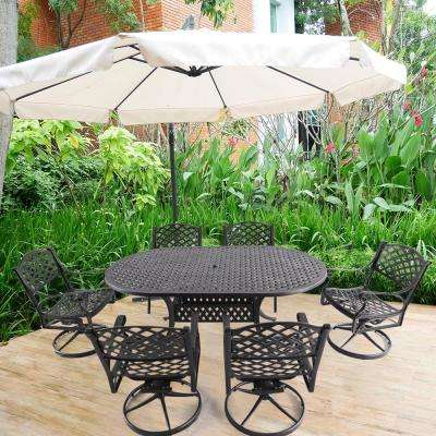 Athena Black 7-Piece Cast Aluminum Outdoor Dining Set