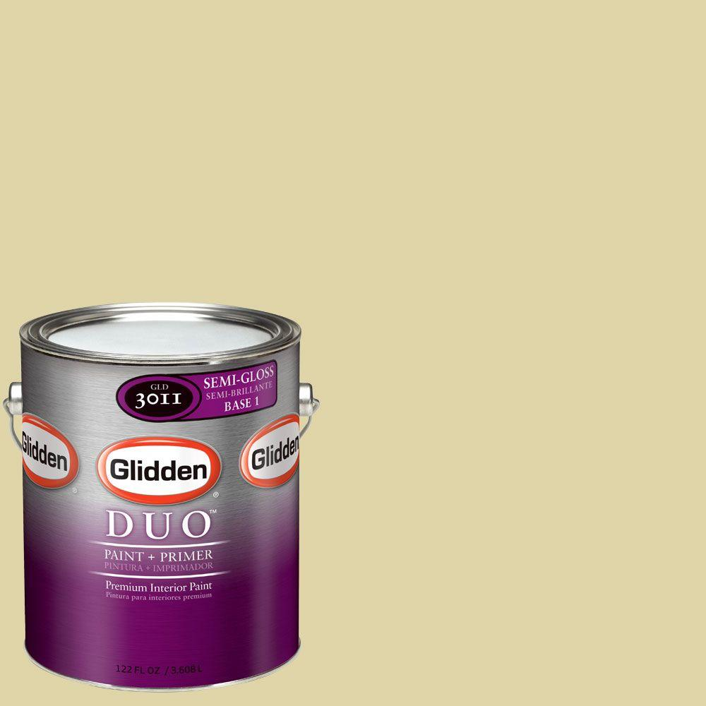 Glidden DUO Martha Stewart Living 1-gal. #MSL065-01S Bamboo Semi-Gloss Interior Paint with Primer-DISCONTINUED