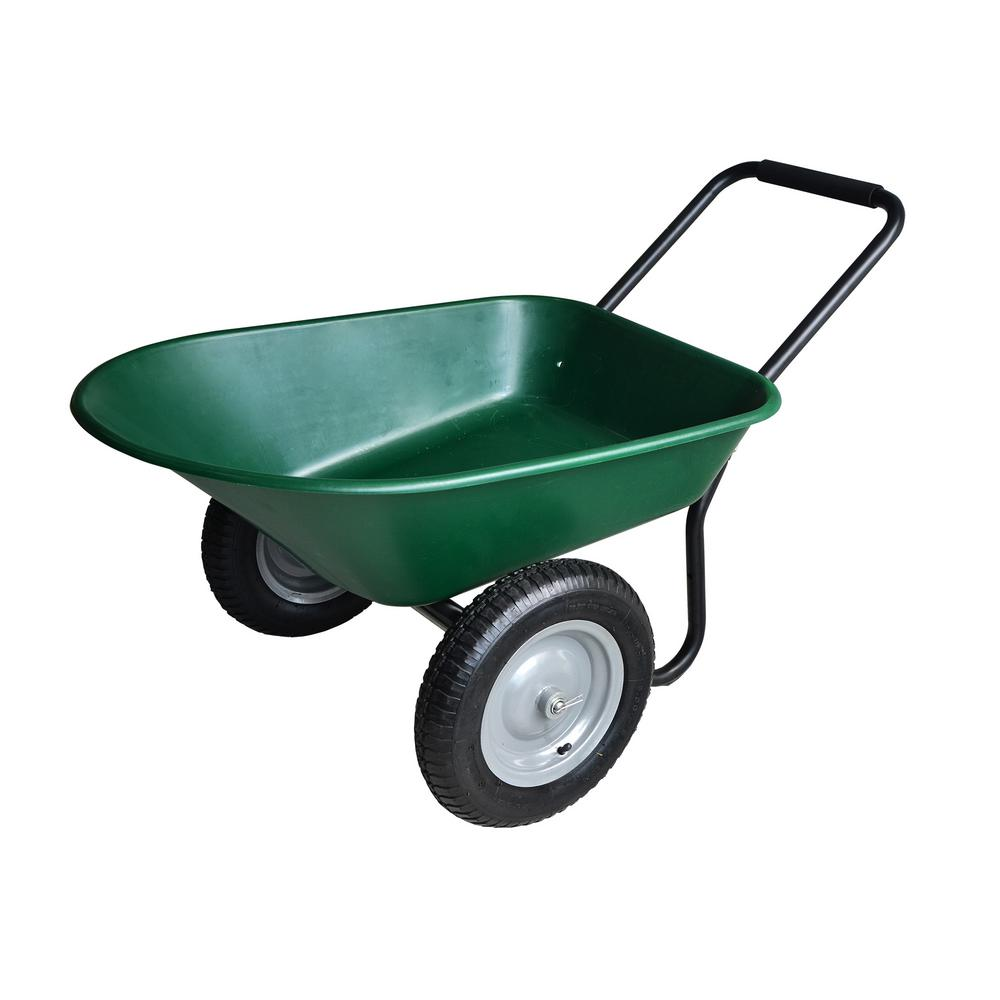 wheels tccarth total control home garden carts yard depot ft cu the cart p ames
