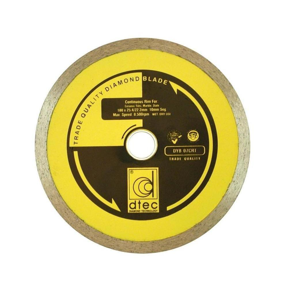 Dtec 8 In. Continuous Rim Diamond Blade - Wet/Dry Tile and Stone
