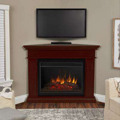 Kennedy Grand 56 in. Corner Electric Fireplace in Dark Walnut