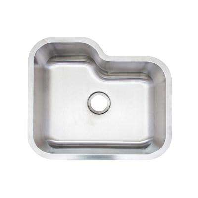 AIO Undermount Stainless Steel 24 in. Single Bowl Kitchen Sink