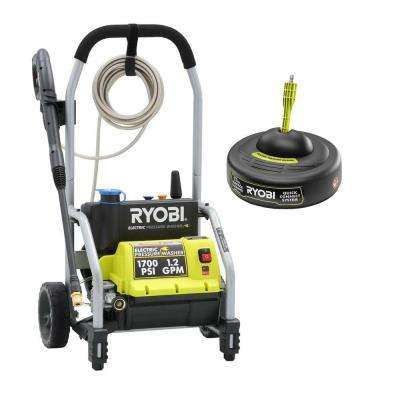 1700-PSI 1.2-GPM Electric Pressure Washer with 11 in. Surface Cleaner
