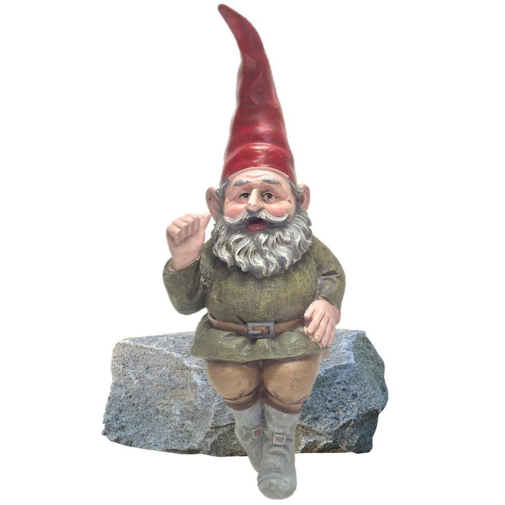 Rumple The Gnome Shelf Sitter Statue