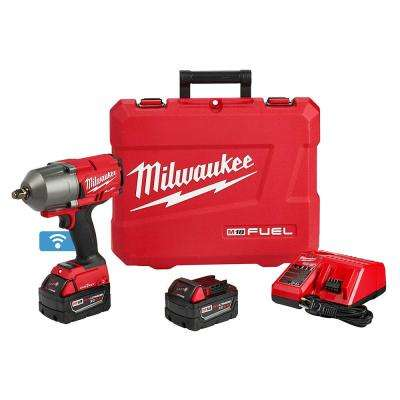 M18 FUEL with ONE-KEY 18-Volt Lithium-Ion Brushless Cordless 1/2 in. High Torque Impact Wrench with Friction Ring Kit