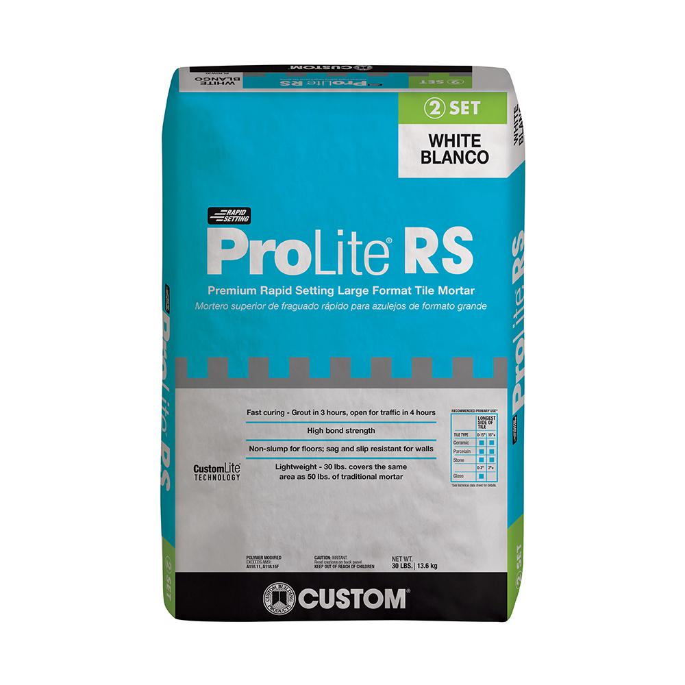 Custom Building Products Prolite White 30 Lb Rapid Setting Tile And Stone Mortar