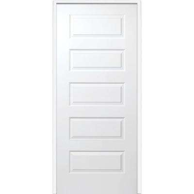 33.5 in. x 81.75 in. Primed Rockport Smooth Surface Solid Core 20 Min. Fire Rated Interior Garage Door
