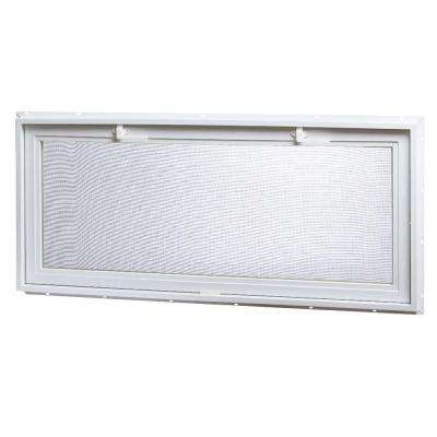 46 in. x 21 in. Large Hopper Ranch Vinyl Window - White