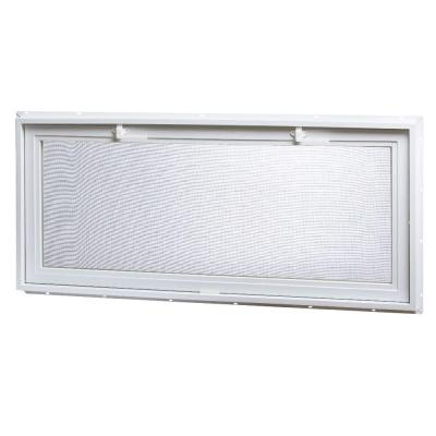 46.25 in. x 21 in. Large Hopper Ranch Vinyl Window - White