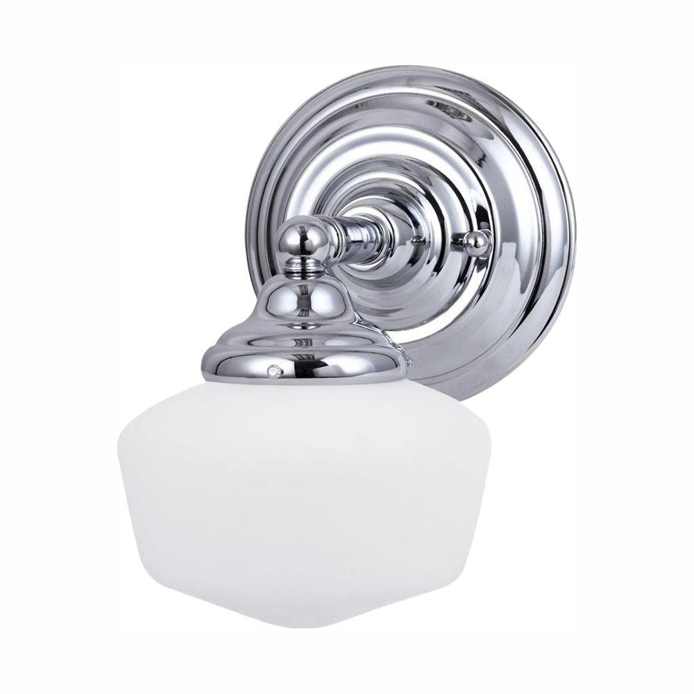 Academy 1-Light Chrome Sconce with LED Bulb