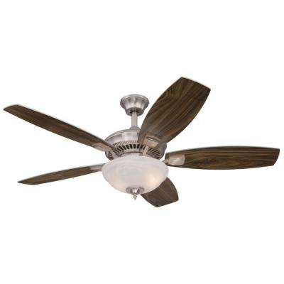 Tulsa LED 52 in. LED Brushed Nickel Ceiling Fan