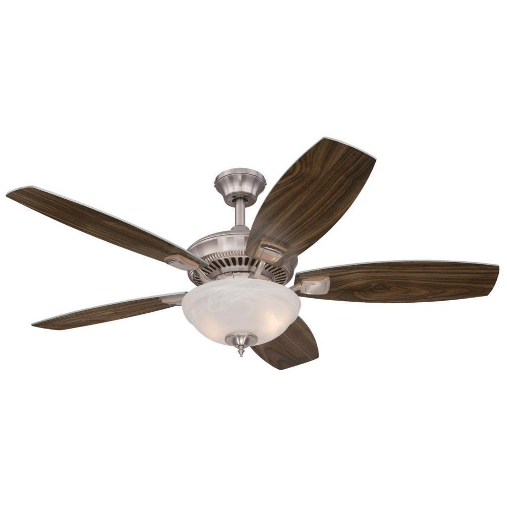 Tulsa 52 in. LED Brushed Nickel Ceiling Fan