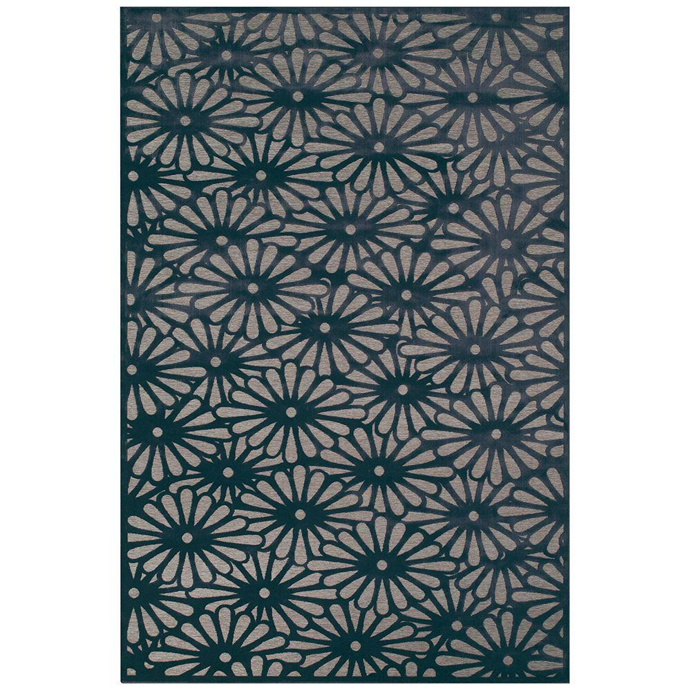 Feizy Saphir Callo Gray/Charcoal 5 ft. 3 in. x 7 ft. 6 in. Indoor Area Rug