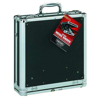 Locking Media Binder 200 Capacity, Black, Combination Lock