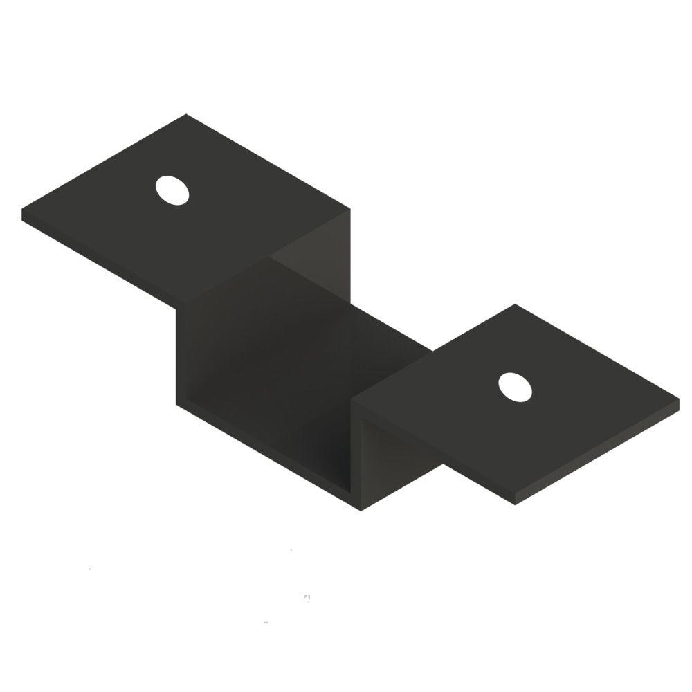 Metal Railing Black Cap Rail Bracket RDI (4-per Bag)