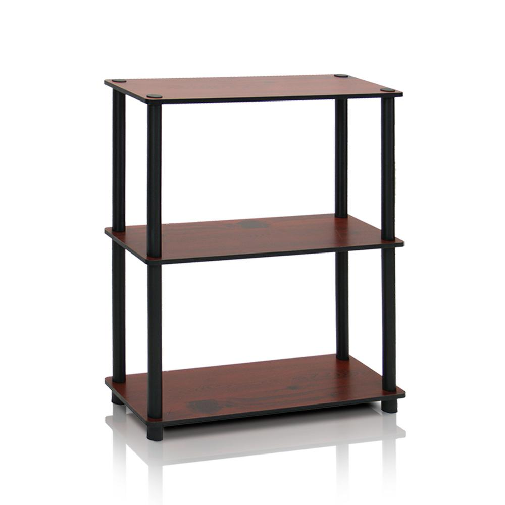 Turn-N-Tube Dark Cherry Compact Open Bookcase